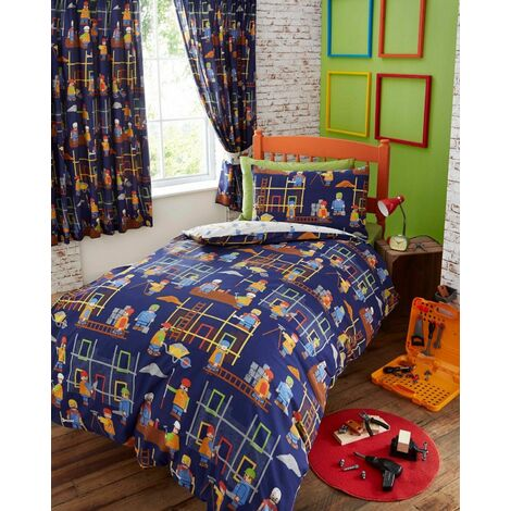 Building Site Junior Toddler Duvet Cover Set Childrens Boys Bedding