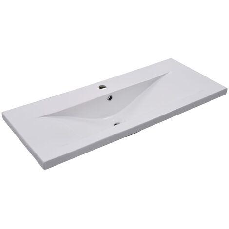 Built-in Basin 101x39.5x18.5 cm Ceramic White - White