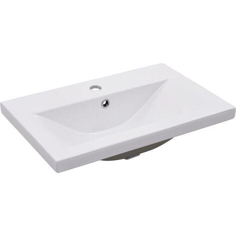 Built-in Basin 61x39.5x18.5 cm Ceramic White - White