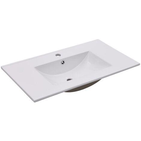 Built-in Basin 80.5x46.3x17.5 cm Ceramic White
