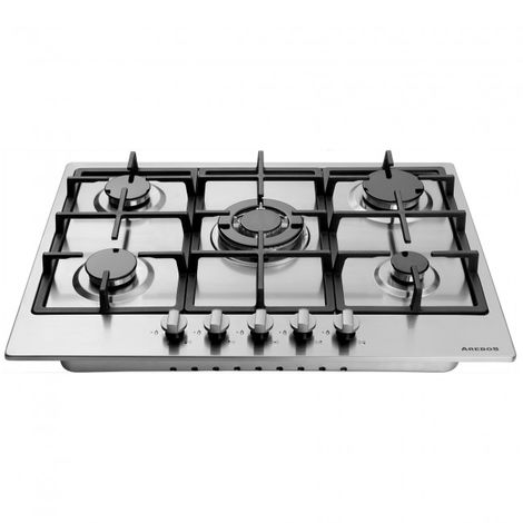 Built-in Gas Hob 5 Burner 68 cm Stainless Steel Hob Glas Kitchen Gas Hob