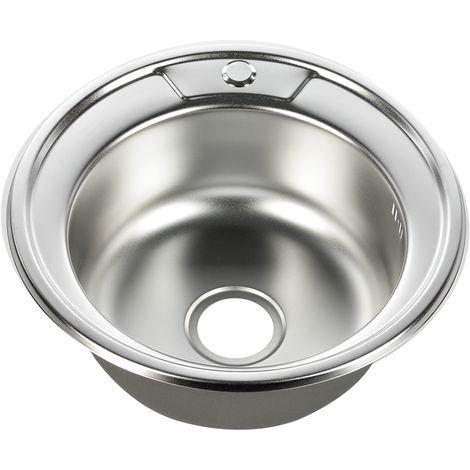 Built-in sink Kitchen Sink basin Stainless steel sink Round stainless steel sink Accessories