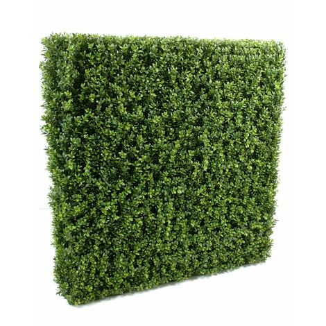 Buis artificiel HAIE NEW STRUCTURE METAL (100 cm) Haut de Gamme Buis EXTÉRIEUR / INTÉRIEUR Plantes artificielles - VERT