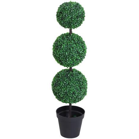 """main image of """"Buis artificiel topiaire artificielle en forme de boules dim. Ø 30 x 112H cm vert"""""""