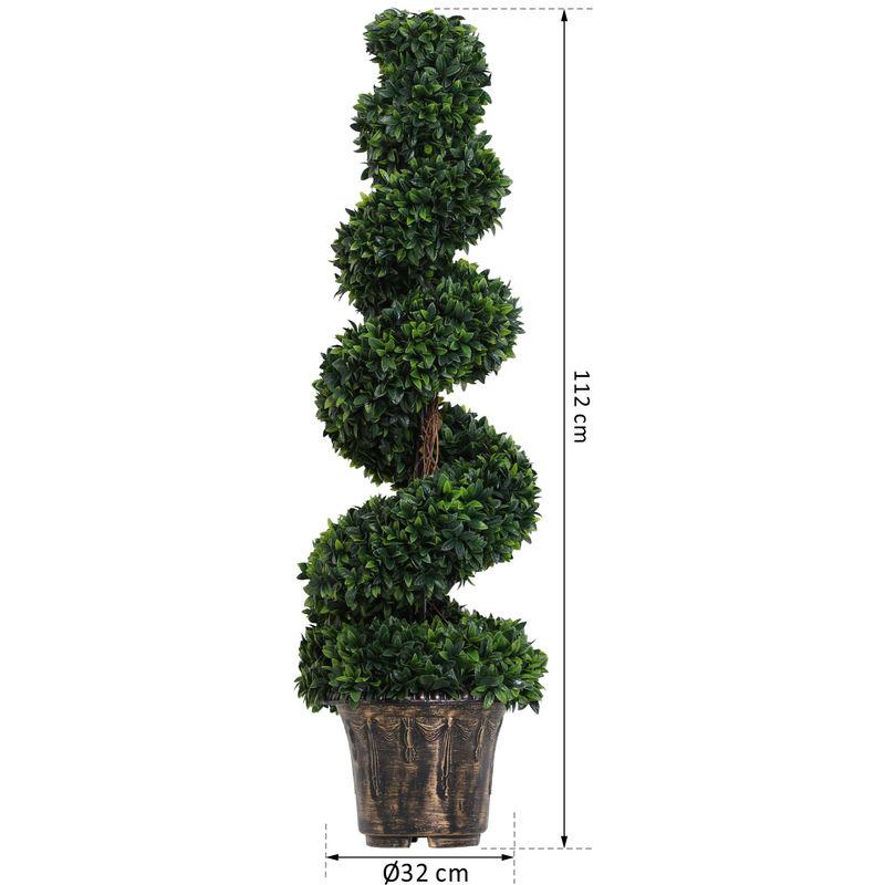 Buis Artificiel En Spirale-90cm
