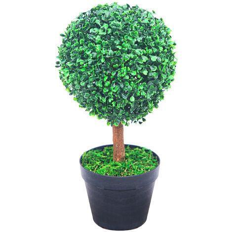 """main image of """"Buis Boule de Buis Plante Artificiel Artificielle Decoration Pot de Fleurs Bois Naturelles 35cm Decovego"""""""