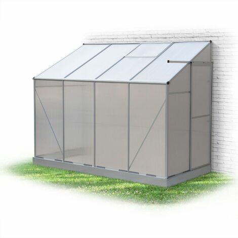 BUIS lean-to 3m² polycarbonate greenhouse with base