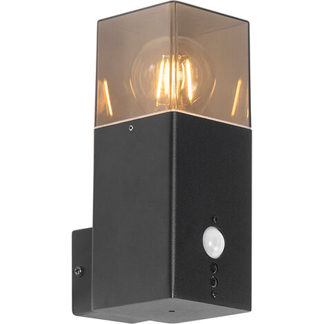 """main image of """"Outdoor wall lamp black IP44 with motion detector - Denmark"""""""