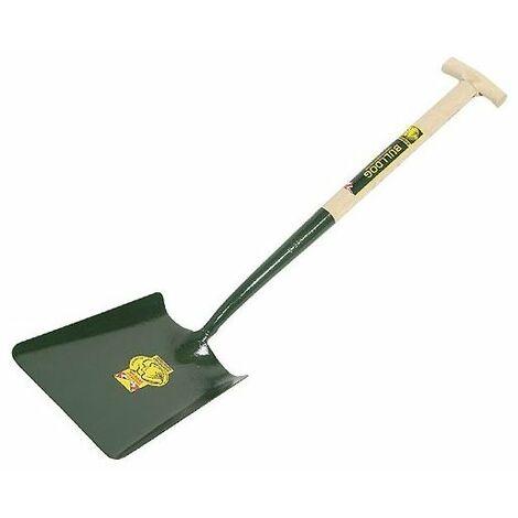 Bulldog 5SM2T Contractors Square Mouth Shovel Wooden Handle T
