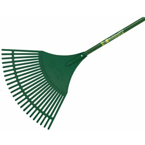 Bulldog BUL7128 Evergreen Plastic Leaf Rake Aluminium Shaft