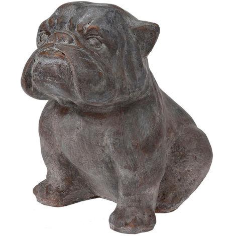 Bulldog decorativo de cemento 40cm