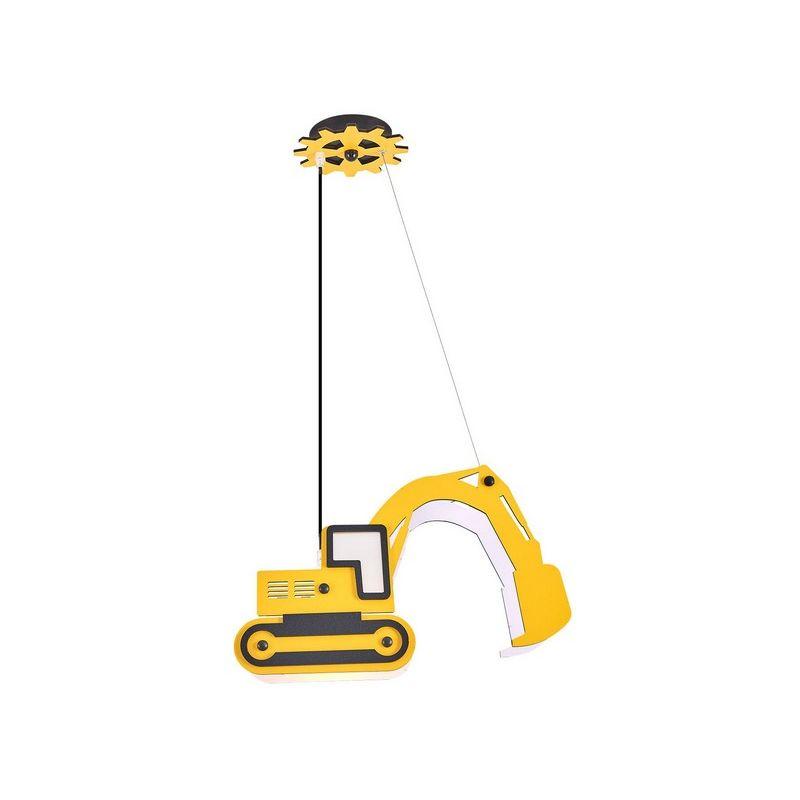 Bulldozer 2 Haengelampe - Kronleuchter - vom Schlafzimmer, Decke - Gelb aus Acryl, 41 x 12 x 100 cm, 1 x E14, 13W