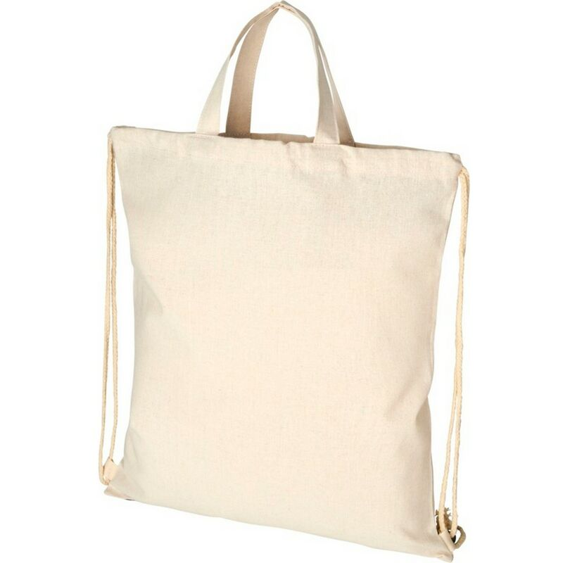 Image of Bullet Adults Unisex Pheebs 210gm Drawstring Bag (One Size) (Natural)