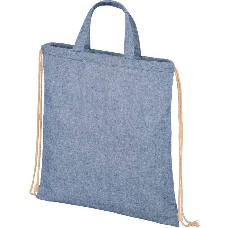 Image of Bullet Adults Unisex Pheebs 210gm Drawstring Bag (One Size) (Blue Heather)