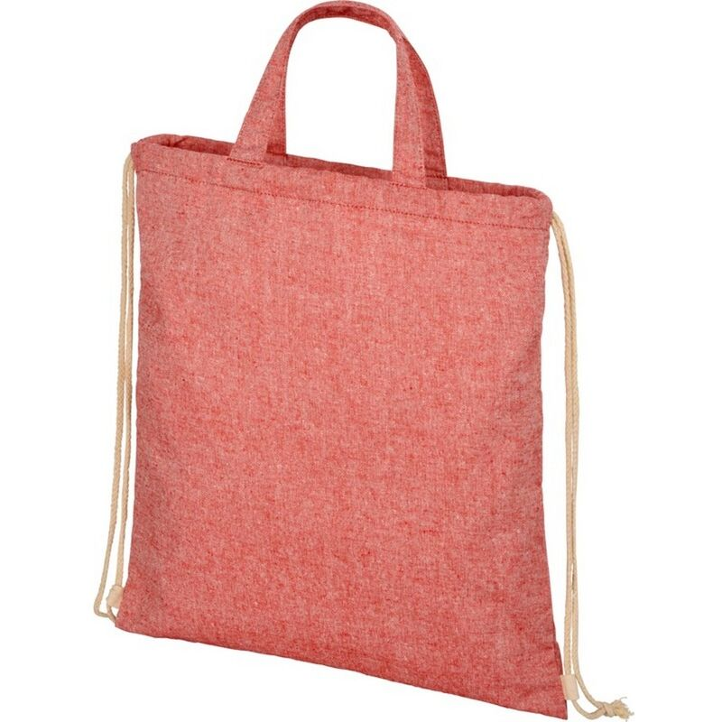 Image of Bullet Adults Unisex Pheebs 210gm Drawstring Bag (One Size) (Red Heather)