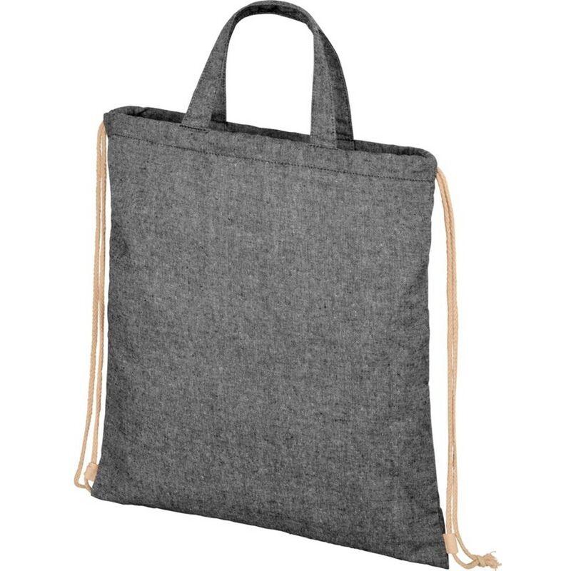 Image of Bullet Adults Unisex Pheebs 210gm Drawstring Bag (One Size) (Black Heather)