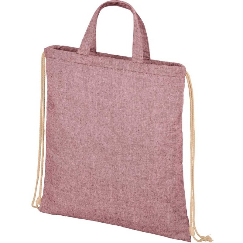 Image of Bullet Adults Unisex Pheebs 210gm Drawstring Bag (One Size) (Maroon Heather)