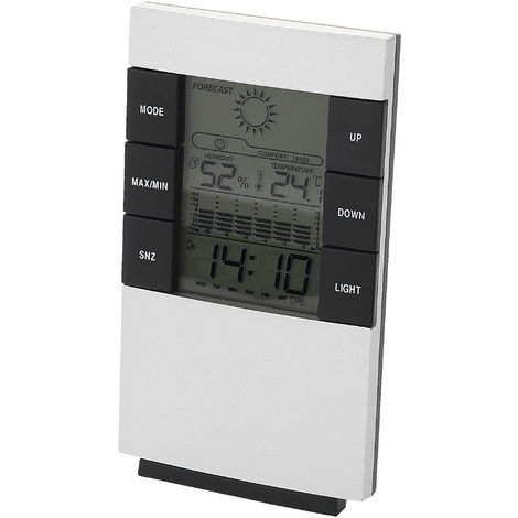 Bullet Como Desk Weather Station (13.5 x 8 x 3.9 cm) (Silver)