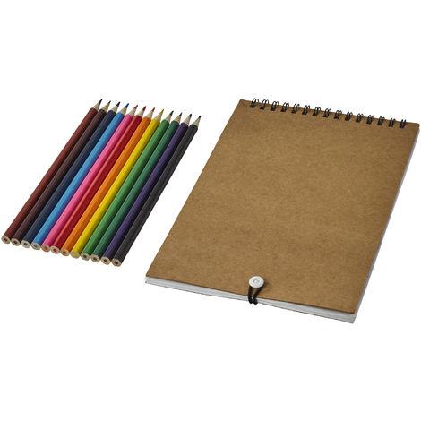 Bullet - Ensemble crayons de couleur et cahier (Taille unique) (Naturel)