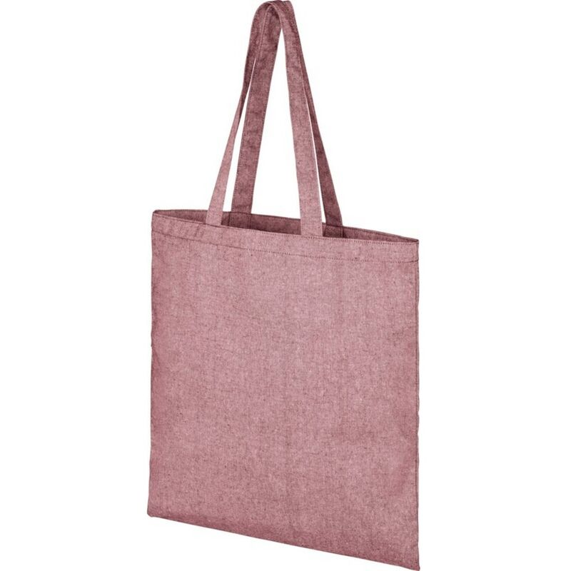 Image of Bullet Pheebs Cotton Tote Bag (One Size) (Maroon Heather)