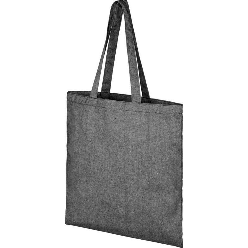 Image of Bullet Pheebs Cotton Tote Bag (One Size) (Black Heather)