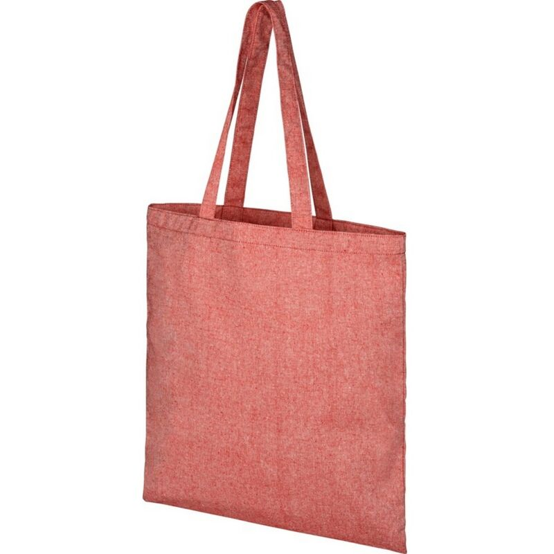 Image of Bullet Pheebs Cotton Tote Bag (One Size) (Red Heather)
