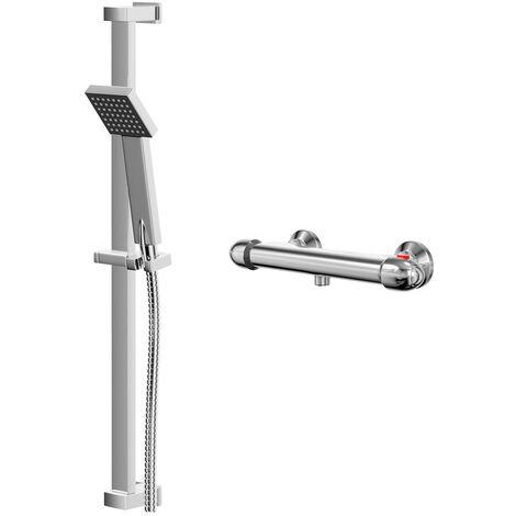 Bullet Thermostatic Bar Valve Mixer Shower With Thames Slide Rail Kit