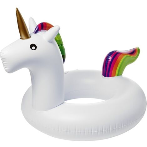 "main image of ""Bullet Unicorn Inflatable Ring (One Size) (White)"""