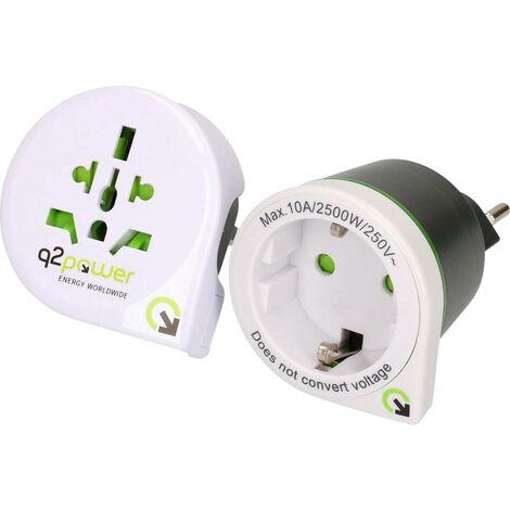 Bundle adaptateur de voyage Q2 Power 1.300100 1 pc(s)