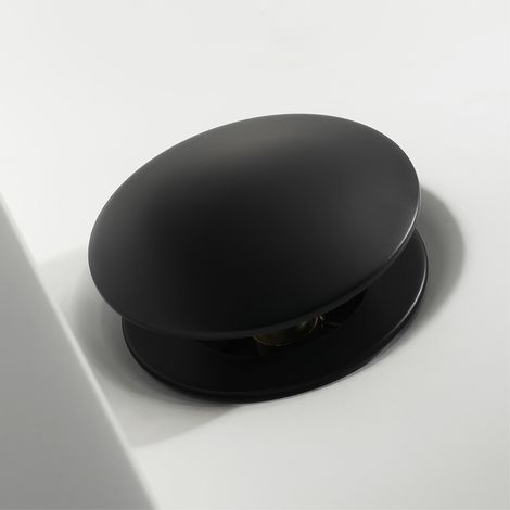 Bung click-clack sin rebosadero en latón negro mate