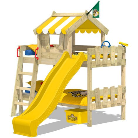 Bunk bed with slide Wickey CrAzY Circus