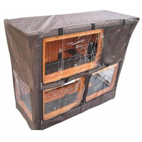 BUNNY BUSINESS Protection pour Cage Lapin à 2 étages 122cm