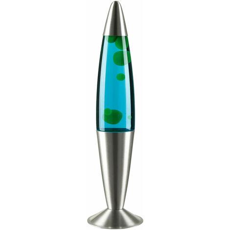 Bunte Lavalampe Blau Wachs Flüssigkeit Grün JENNY H42cm