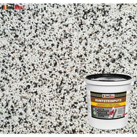 Buntsteinputz Mosaikputz BP10 (weiss, grau, schwarz) 25kg Absolute ProfiQualität