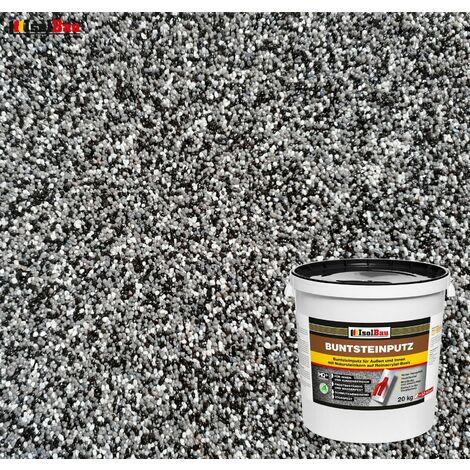 Buntsteinputz Mosaikputz BP30 (schwarz, grau, weiss) 20kg Absolute ProfiQualität