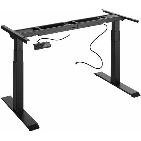 Bureau assis debout meuble (piètement) 3 fonctions 2 moteurs noir - Noir