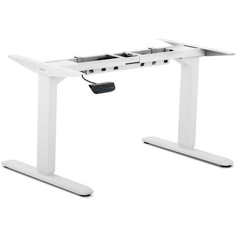 Bureau assis debout (piètement) - 200 W - 100 kg blanc - Blanc