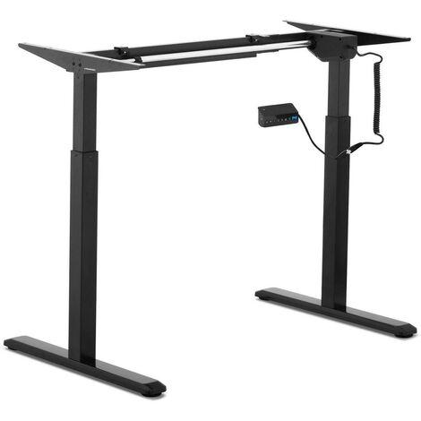 Bureau assis debout (piètement) - 200 watts 80 kg noir - Noir
