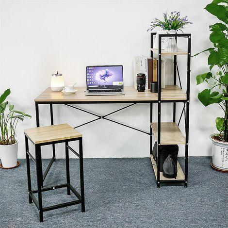 """main image of """"Bureau avec étagère Table de bureau Bureau d'ordinateur Table de travail PC Table d'ordinateur portable - Chêne"""""""