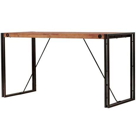 Bureau design acacia métal - WORKSHOP - Marron