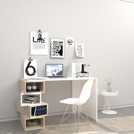 Bureau design Damon - L. 120 x H. 75 cm - Blanc