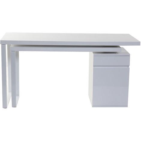 Bureau design modulable blanc brillant VOXY