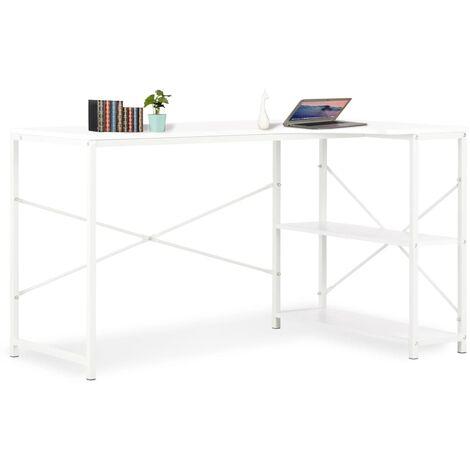 Bureau d'ordinateur Blanc 120 x 72 x 70 cm