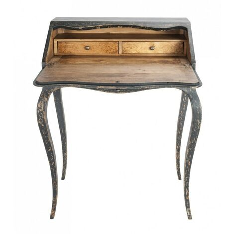 Bureau en bois 2 tiroirs Gabrielle - Signature