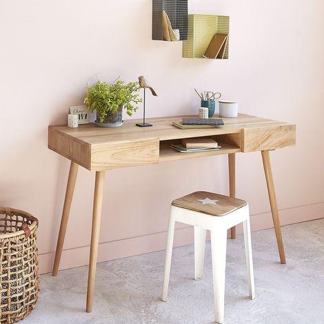 Bureau en bois de teck - Naturel