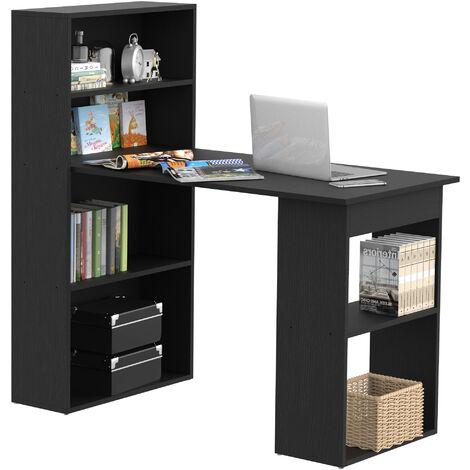 Bureau informatique + bibliothèque 120L x 55l x 120H cm