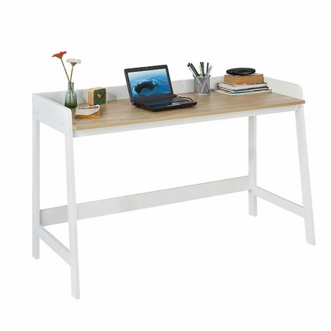 Bureau Informatique pour Ordinateur Conception Simple Plan de Travail FWT41-WN SoBuy®
