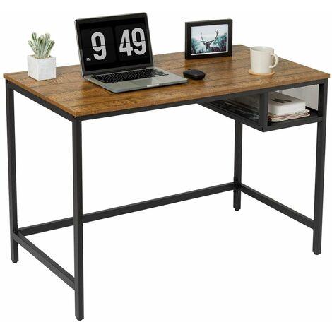 Bureau Informatique, Table de Travail, Bureau d'Ordinateur, Table d'Etude avec Panier de Rangement - Meerveil