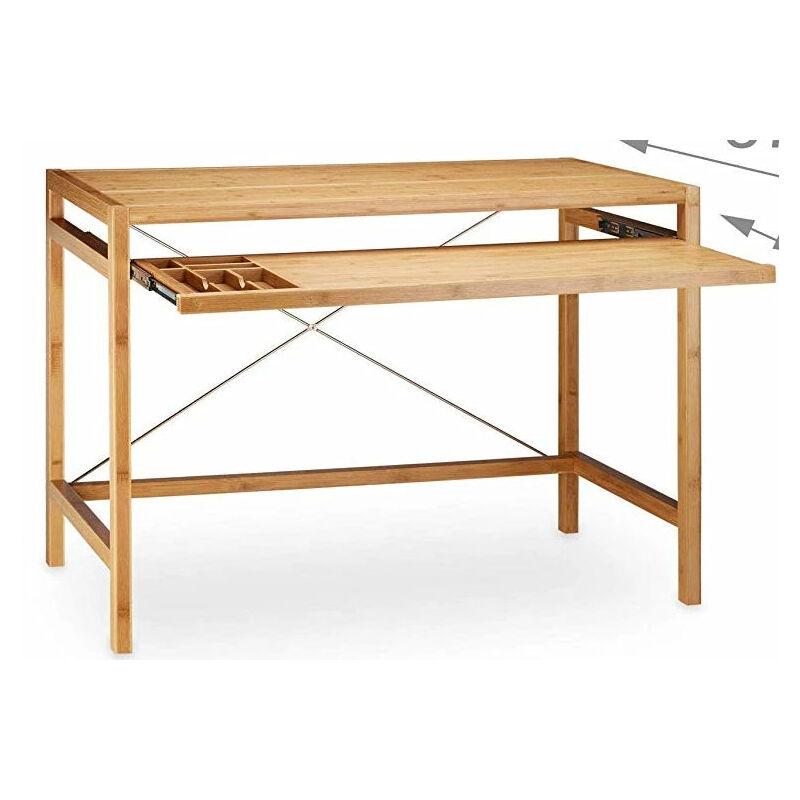 moderne 107 table Bureau emplacement informatique en x ordinateur bambou clavier 55 cm thsQrdCx