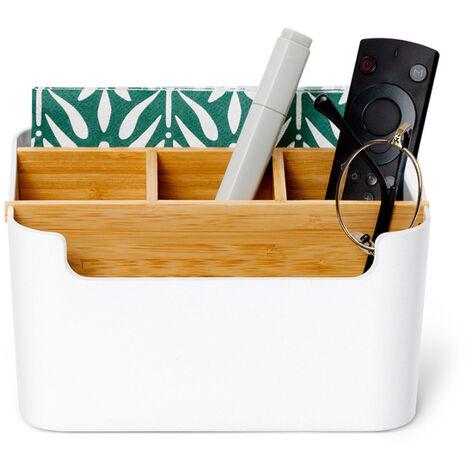 Bureau Organisateur Cosmetiques De Stockage En Fibre De Bambou Stylos Papeterie Maquillage Organisateur Conteneur Pour Bureau A Domicile Bureau